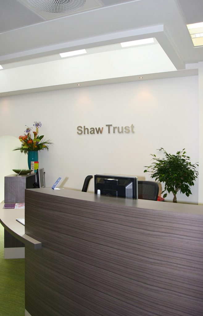 Shaw Trust Reception and Branding